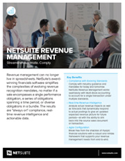 Data sheet NetSuite Revenue Management